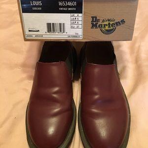 Dr Martens unisex Louis slipon UK4 oxblood leather